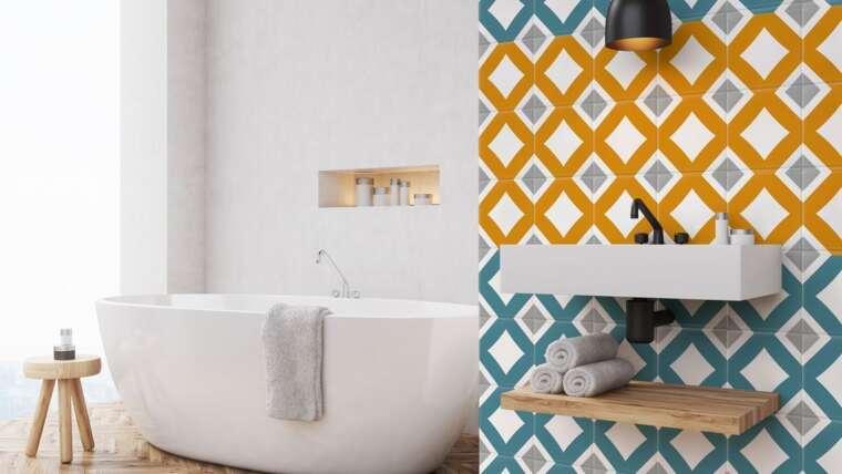 carrelage adhesif salle de bain