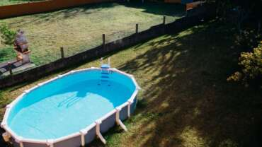 dalle de protection pour piscine hors sol